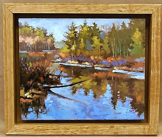 Painting From Life: Several Plein airs...and, framed in floating L ...