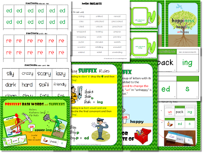http://www.teacherspayteachers.com/Product/Prefixes-Base-Words-and-Suffixes-Resource-Pack-Flip-Books-and-More-1022492