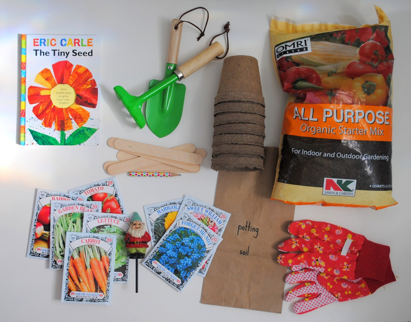 a pretty cool life gifting a DIY gardening kit for kids