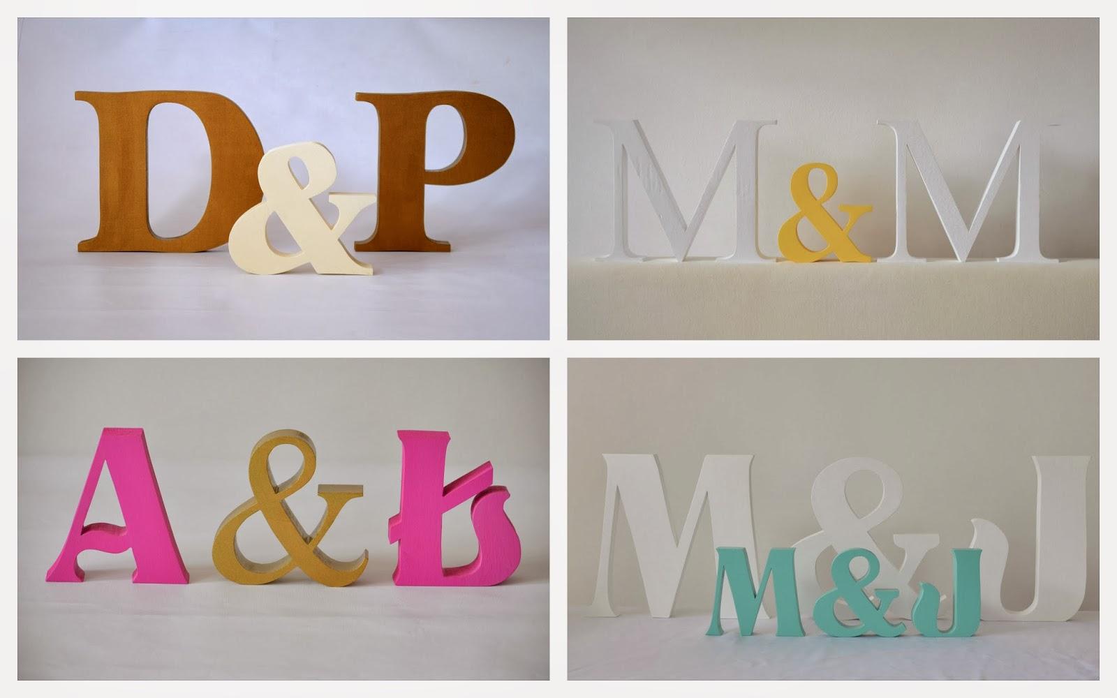 Four Oaks Shop Litery ślubne Dekoracja ślubna Inicjały Z Drewna