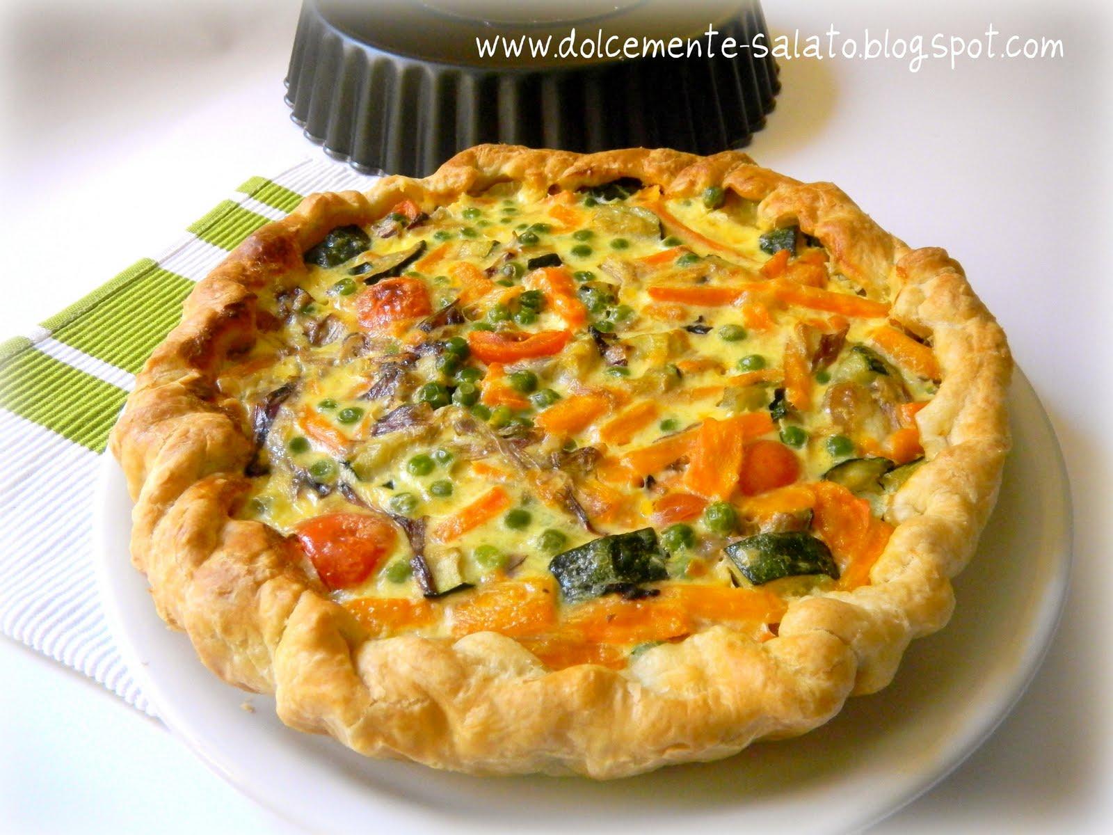 Dolcemente salato quiche di verdure for Ricette con verdure
