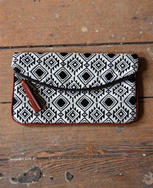 Brocade Stitch Foldover Clutch | shopgracieb.com