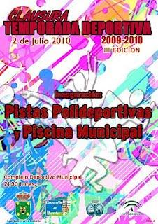 CLAUSURA TEMPORADA DEPORTIVA 2009 - 2010 (III EDICIÓN)