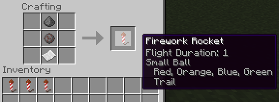 how to make a firework star in mc
