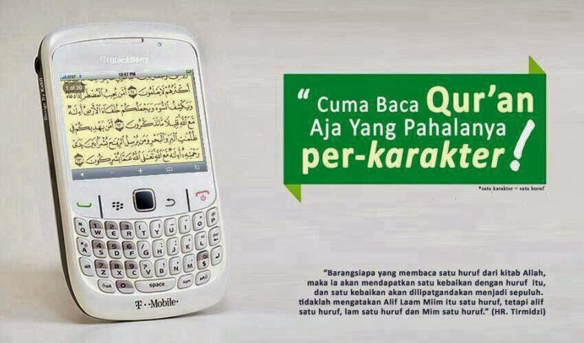 Cuma Baca Al Quran yang Pahalanya per Karakter