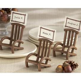 Rustic Chair Place Card Holder