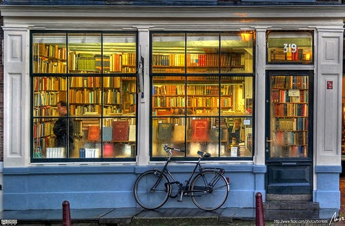 Front Window of Bookstore