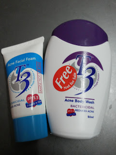 body wash and facial foam
