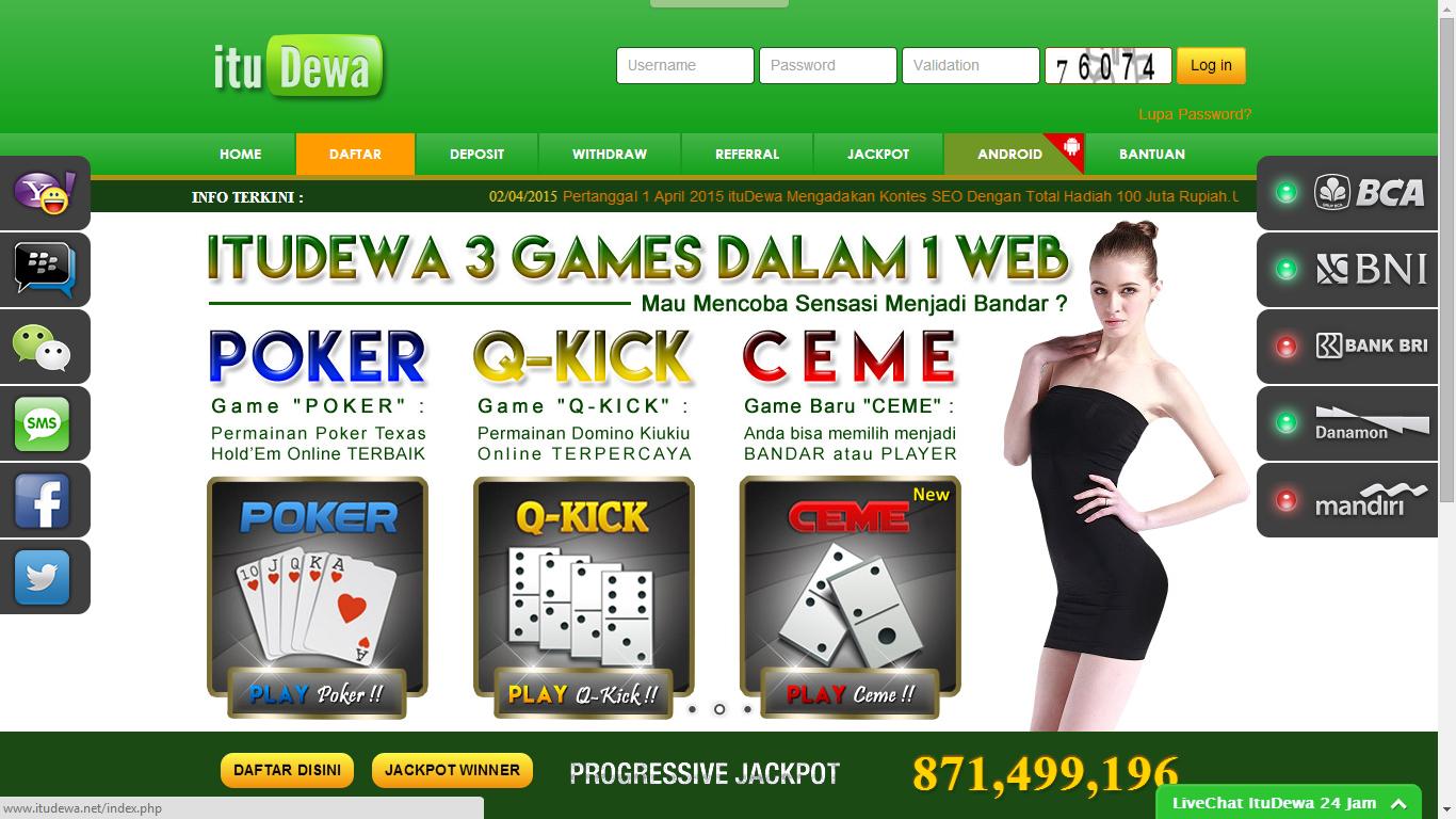 itudewa.Net agen judi poker domino qq ceme on line indonesia