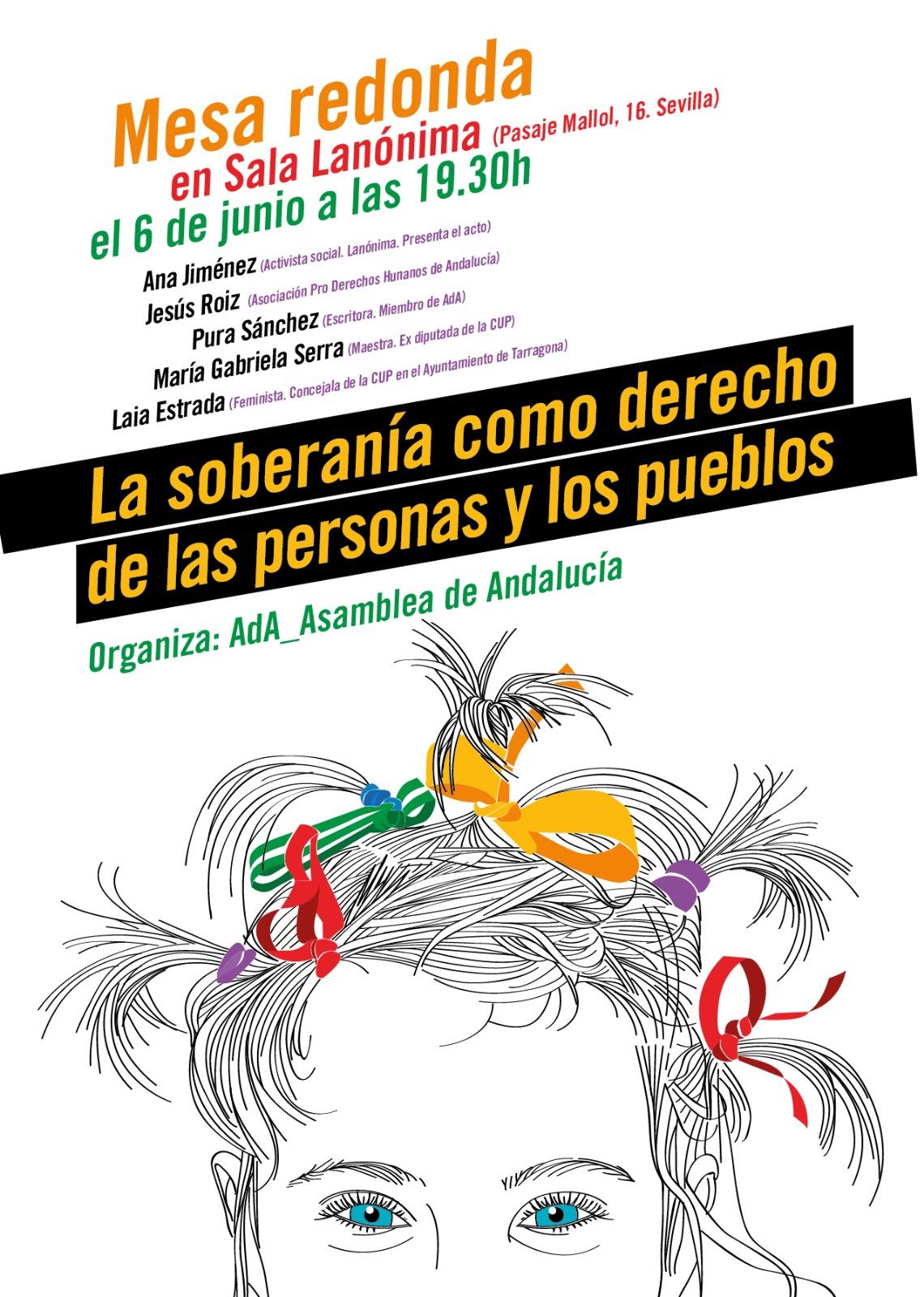 Mesa redonda LA SOBERANÍA COMO DERECHO DE LAS PERSONAS Y LOS PUEBLOS miércoles 6 de junio