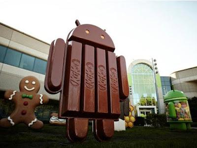 Monumen Android KitKat 4.4 di depan kantor Google