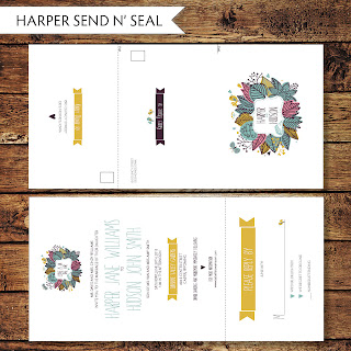 love the wedding invitations design i also created a matching bridal shower invitation - Send And Seal Wedding Invitations