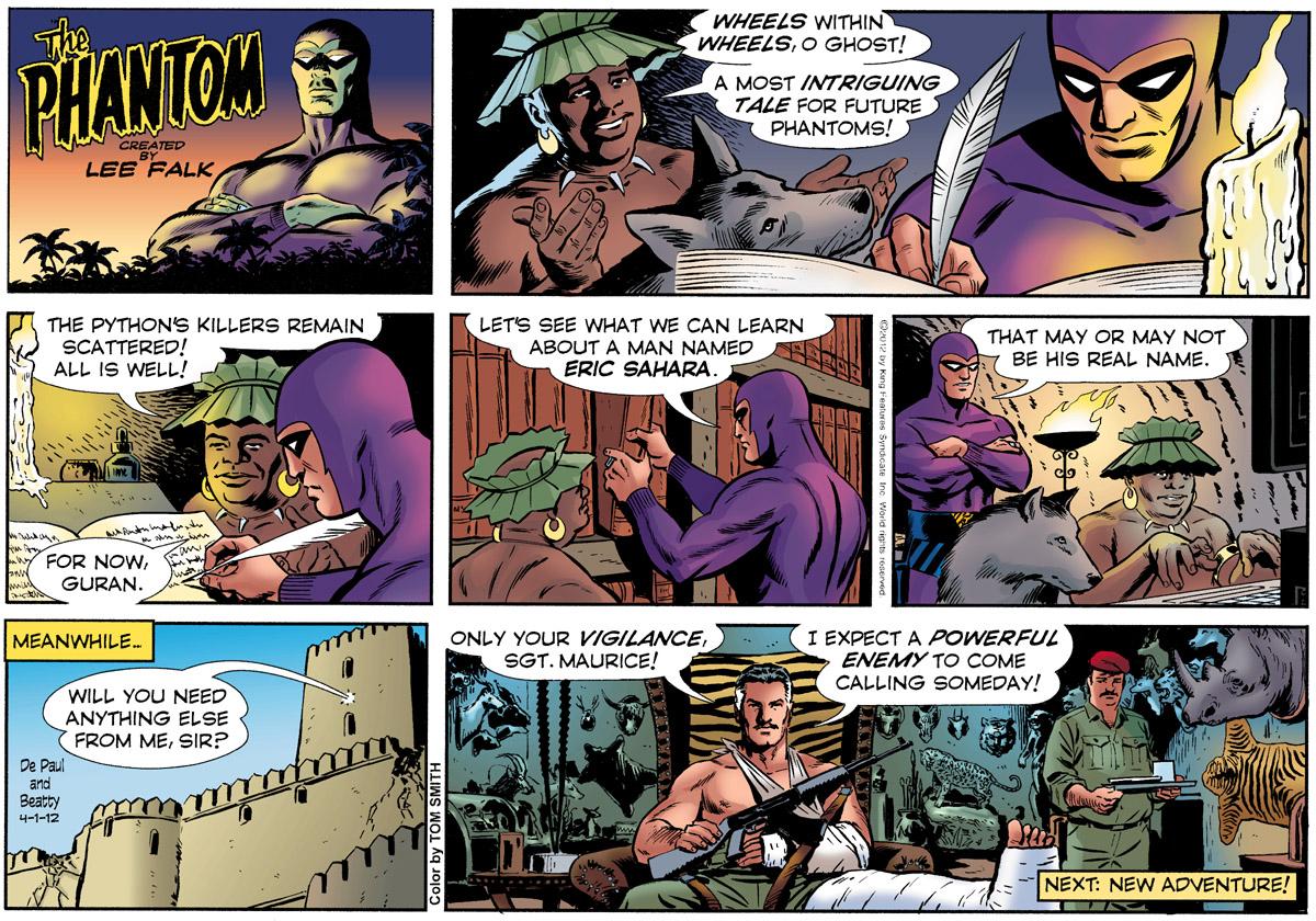 Phantom comic strip three bandits