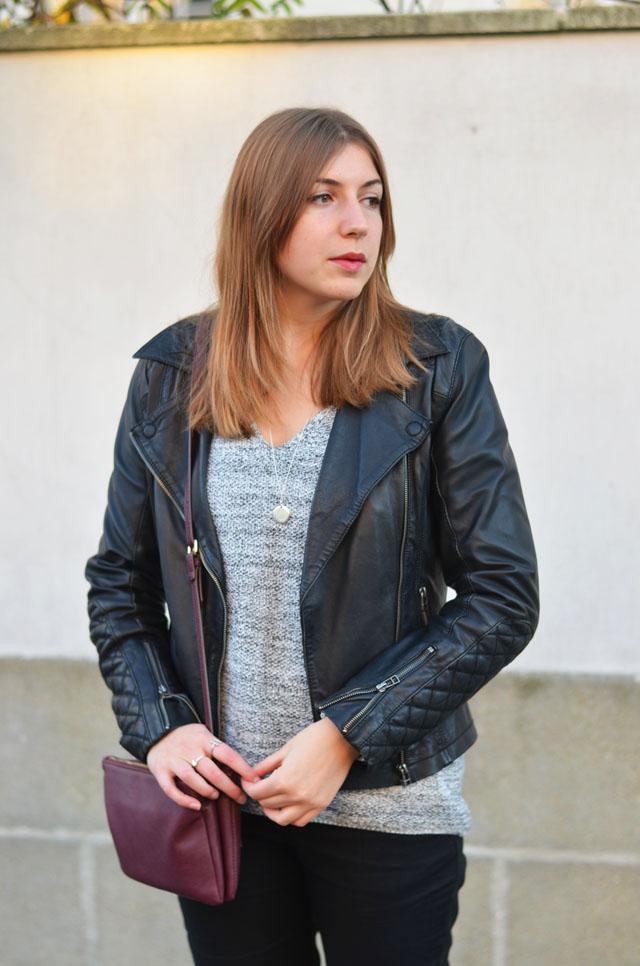 perfecto en cuir femme tenue look