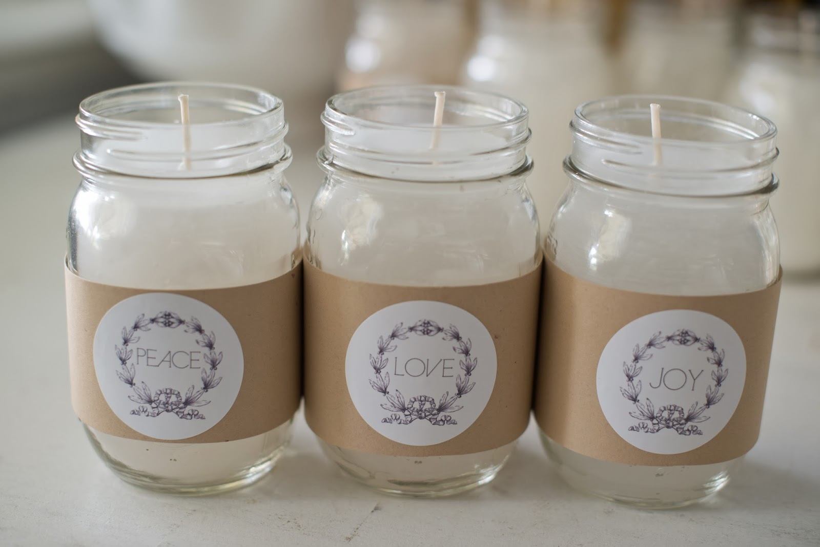 domestic fashionista diy canning jar candles tutorial gift label
