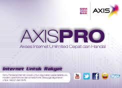 Cara Daftar Paket Internet Axis Pro