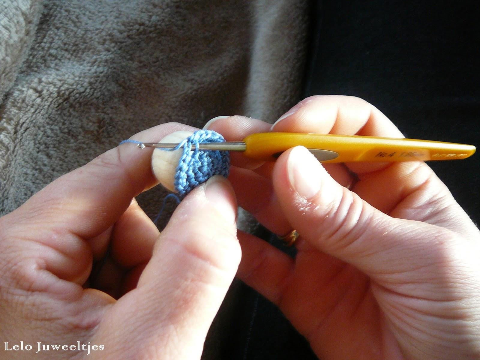 Tutorial Haken Rond Een Kraal Crochet Beads Ineseda