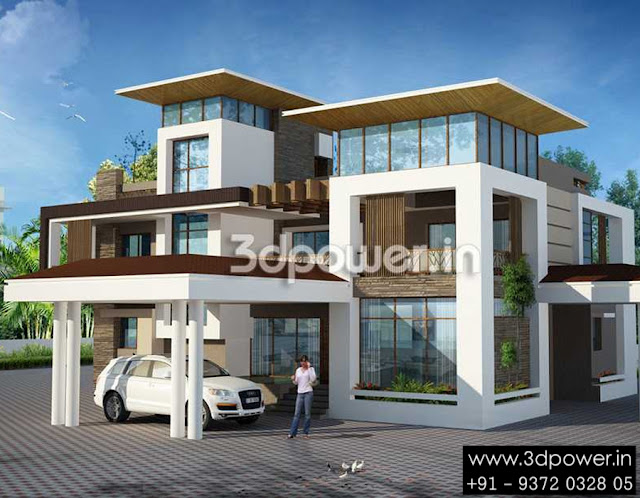 Ultra modern home designs home designs 20 bungalow designs for Twin bungalow plans