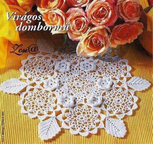 Carpeta de diseño floral al crochet - con esquema