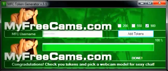 MyFreeCams Token Generator Hack Tool v3.1 Download