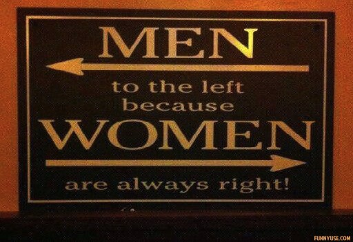 Men to the left because women are always right  Funny Pictures