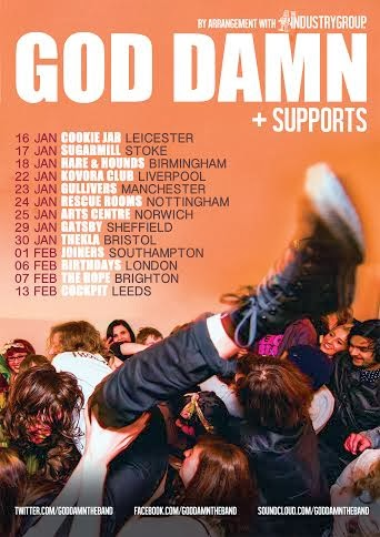 God Damn announce UK tour dates and release cover of Eraserhead them