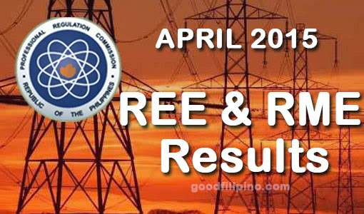 PRC: Top 10 Passers of REE & RME Board Exam (April 2015)