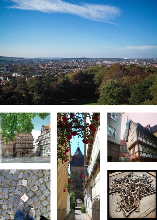 Hildesheim - Marktplatz, Rosenroute, Zuckerhut, Kehrwiederturm
