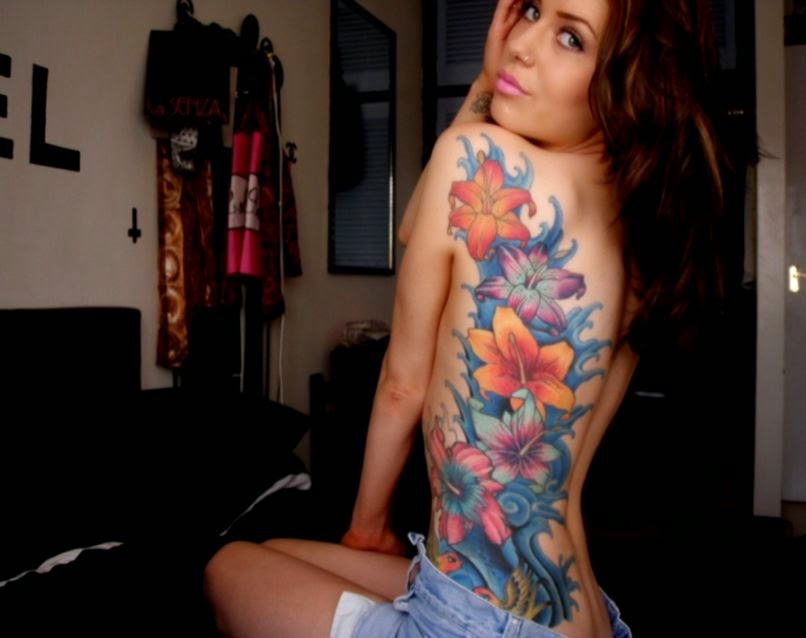 Body art and painting for Tattoo bodysuit female