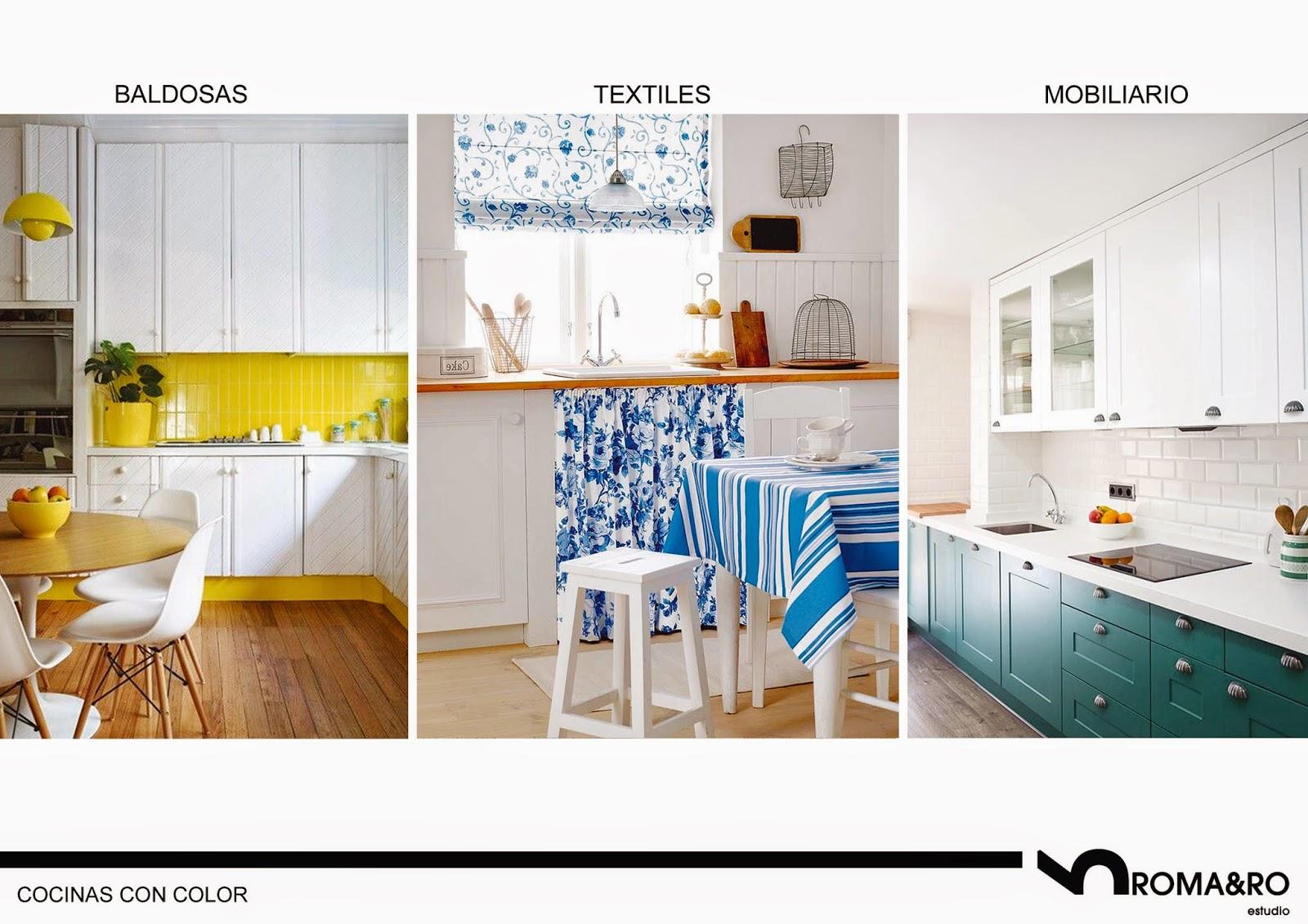 Toques de color en las cocinas