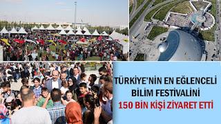 Türkiye'nin En Eğlenceli Bilim Festivalini 150 Bin Kişi Ziyaret Etti