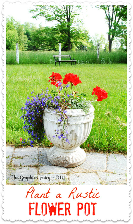 Plant a Garden Flower Pot - My Favorite Combo
