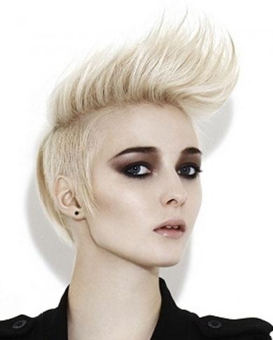 Short Blonde Mohawk Hair Style 2014