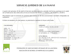 SERVICIO JURIDICO GRATUITO PARA LOS SOCIOS DE LA  ASOCIACIÓN DE VECINOS LA PARPAYUELA