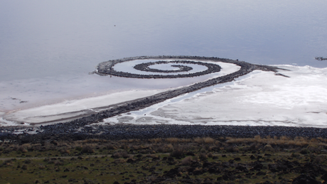 Art Talk - foredrag om kunst. Robert Smithson: Spiral jetty, 1970