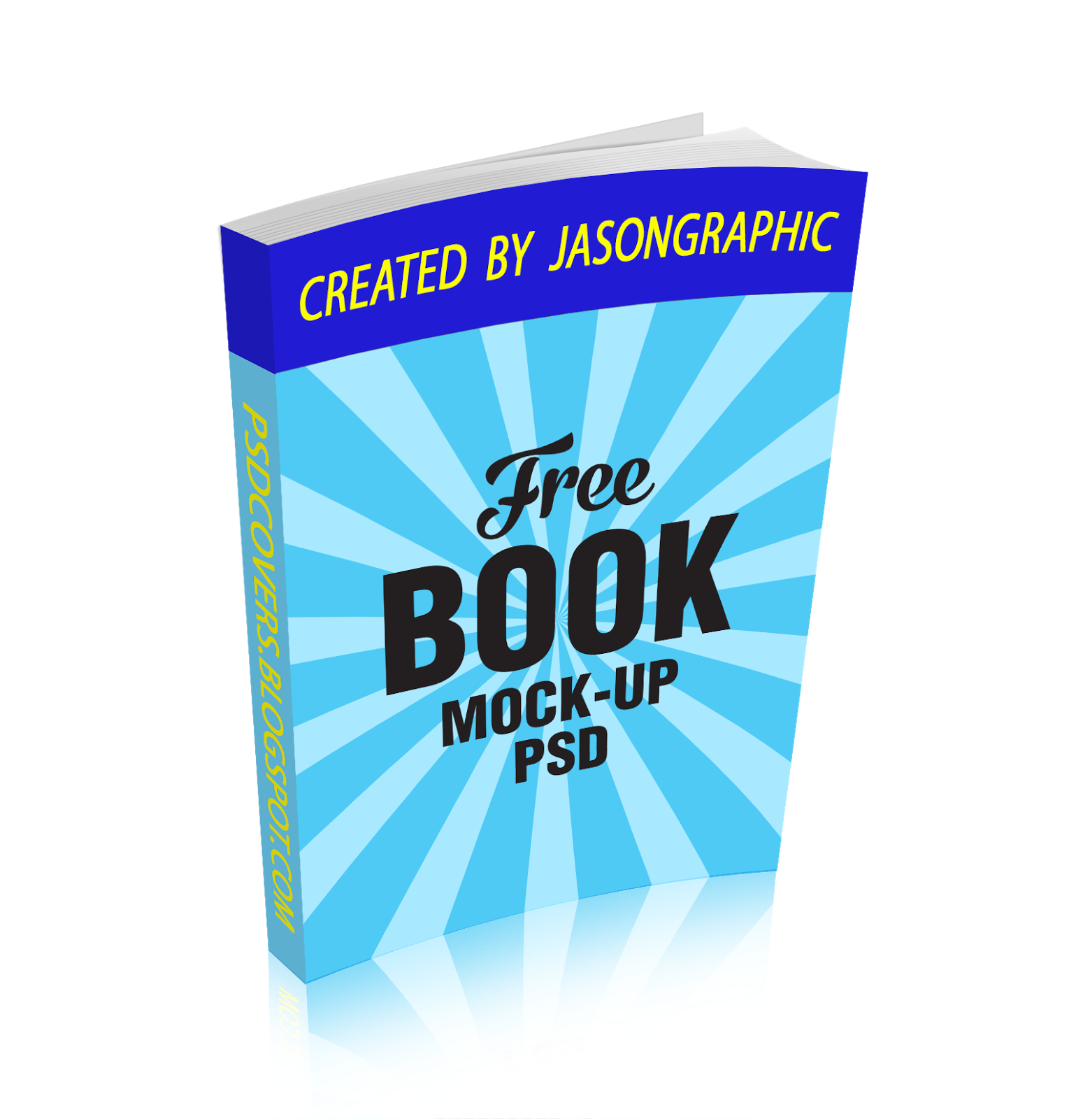 3D eBook cover action (PAPERBACK) « FREE PSD Cover