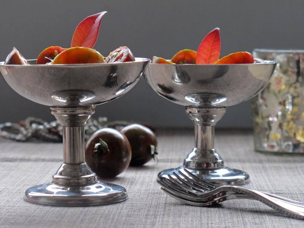C ctel cremoso con tomate cherry negro tobegourmet for Coctel con zumo de tomate