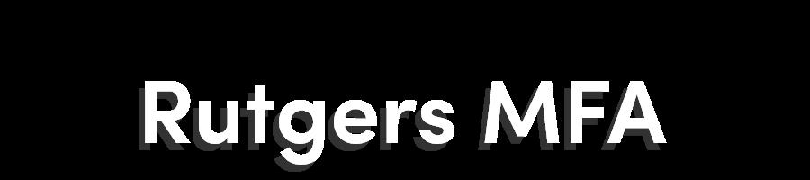 Rutgers MFA Blog