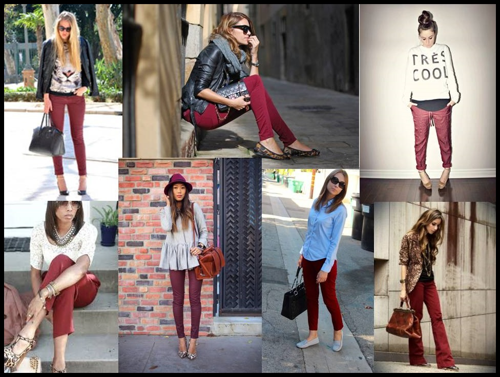 Tendenciera: Bordó multi-looks