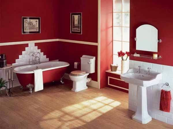 Cat rumah minimalis warna merah maron gambar rumah idaman for Maroon bathroom ideas