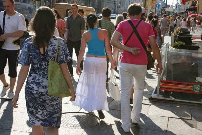 Girls Showing Panties in See Through Dresses