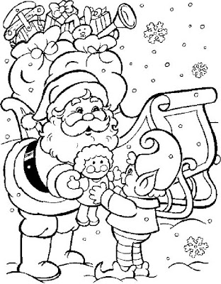 Desenhos de Papai Noel ou Pai Natal para colorir jogos de