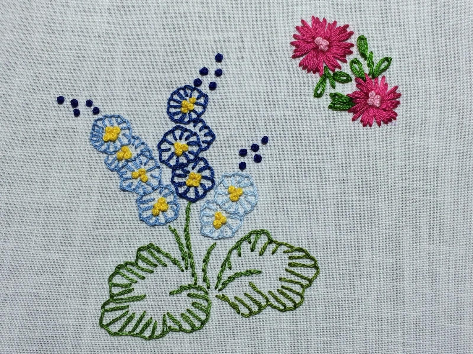 blanket stitch flowers