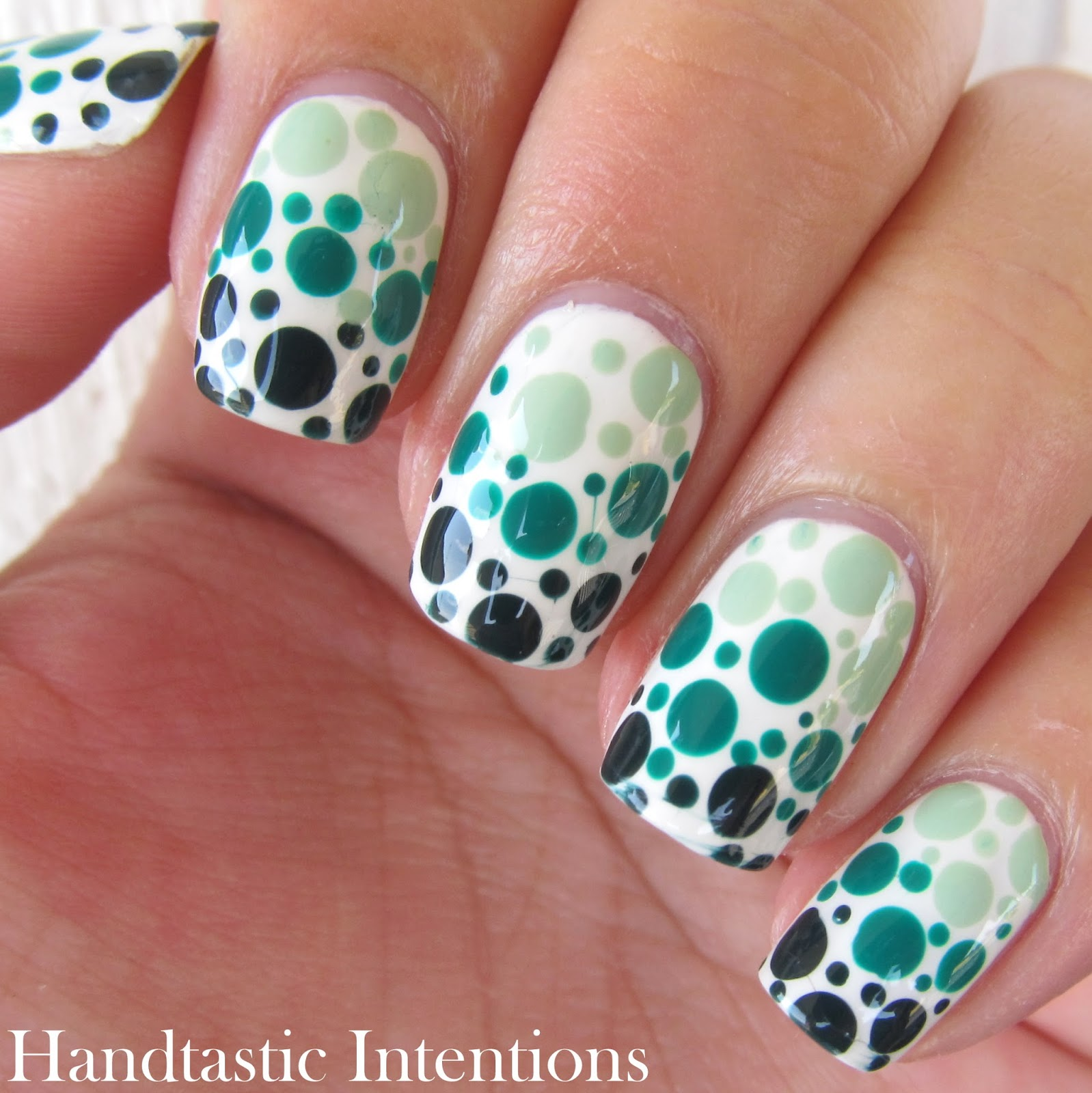 Handtastic Intentions: Nail Art: Green Dotticure for ...