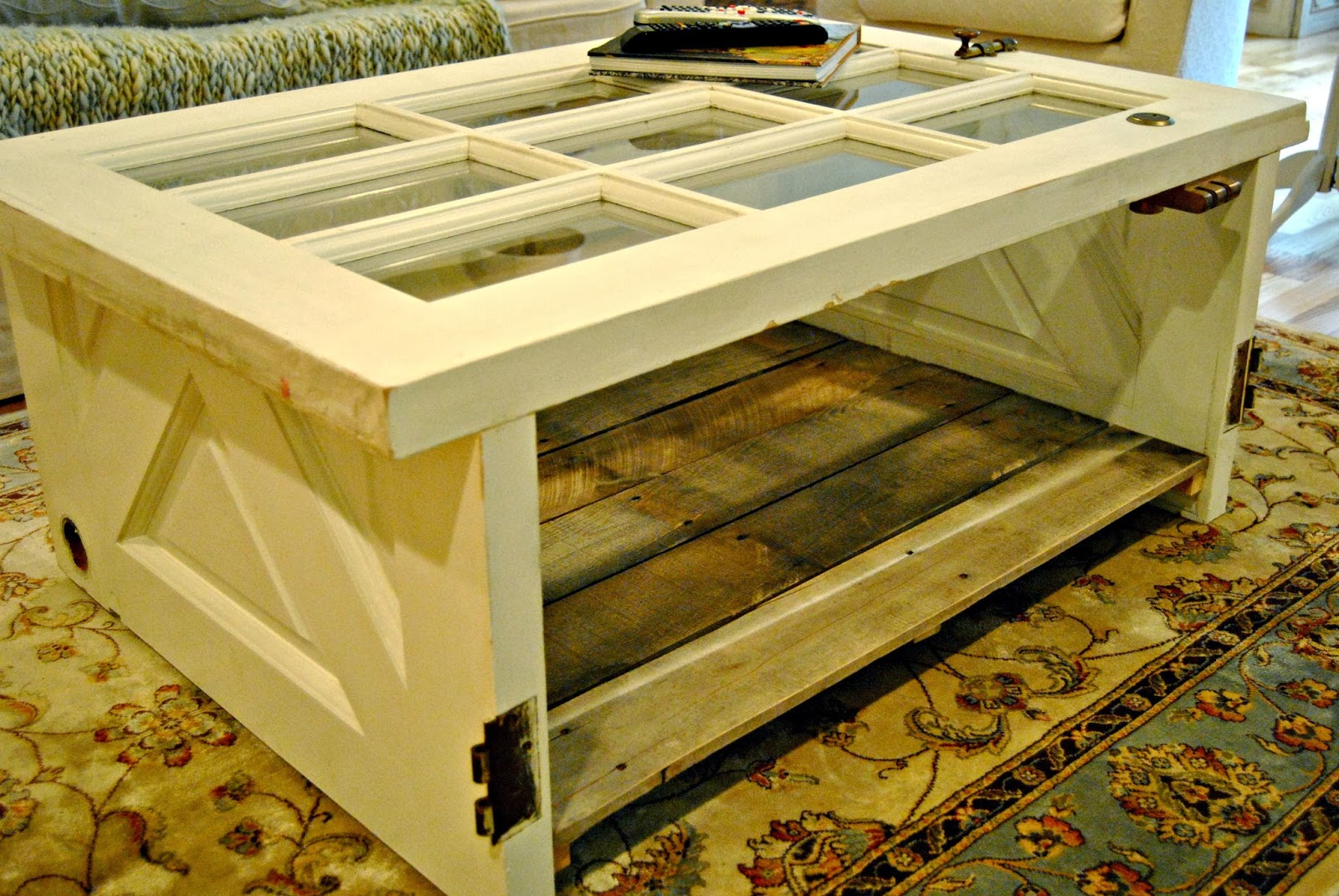 Vintage Door Coffee Table The Painted Home By Denise Sabia