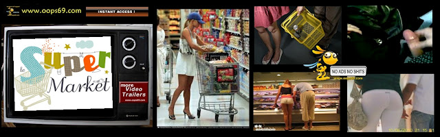 video groping in supermarket