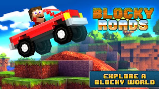 Screenshots of the Blocky Roads for Android tablet, phone.
