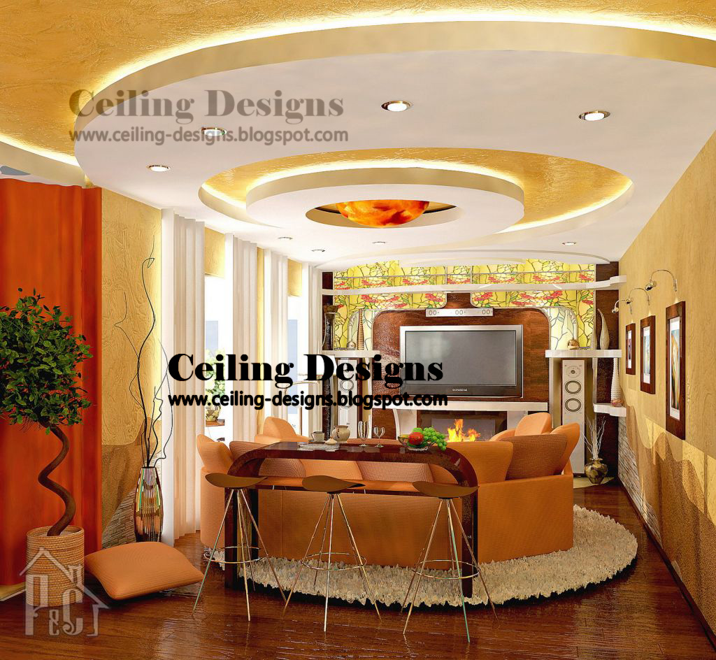 Pop ceiling designs with lights for living room for Pop interior design for hall