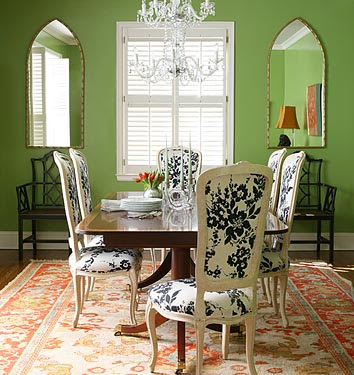 Dining rooms green walls country home design ideas - Green dining room paint colors ...