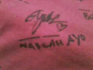 Foto Tanda Tangan Nabilah JKT48